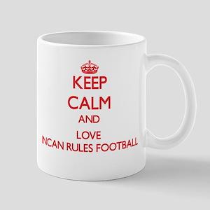 Keep calm and love Incan Rules Football Mugs