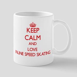 Keep calm and love Inline Speed Skating Mugs