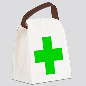 Medical Marijuana Cross Canvas Lunch Bag