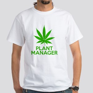 Plant Manager Weed Pot Cannabis White T-Shirt