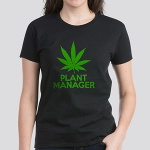 Plant Manager Weed Pot Cannab Women's Dark T-Shirt