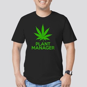 Plant Manager Weed Pot Men's Fitted T-Shirt (dark)