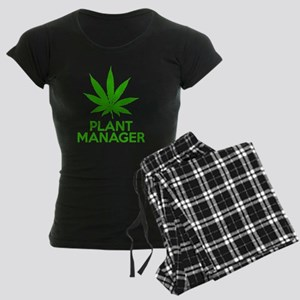 Plant Manager Weed Pot Canna Women's Dark Pajamas