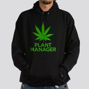 Plant Manager Weed Pot Cannabis Hoodie (dark)