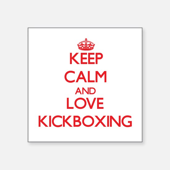 Keep calm and love Kickboxing Sticker
