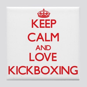 Keep calm and love Kickboxing Tile Coaster