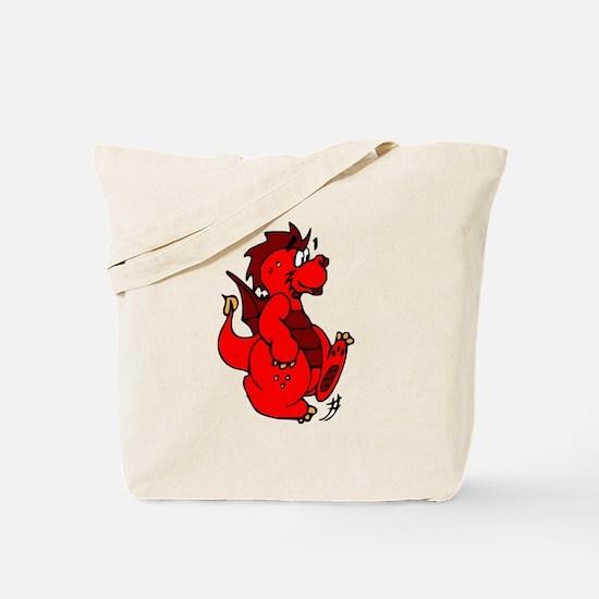 Red Dragon Walking Tote Bag
