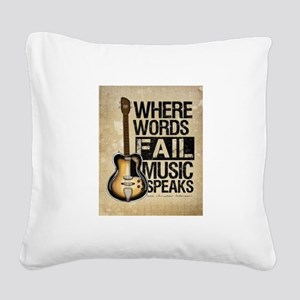 breaking point Square Canvas Pillow
