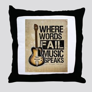 breaking point Throw Pillow