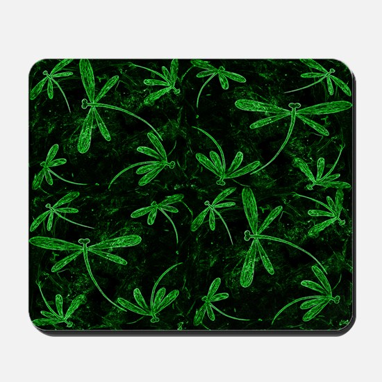 Dragonfly Flit Electric Green Mousepad