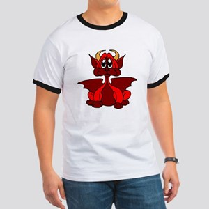 Red Baby Dragon With Horns T-Shirt
