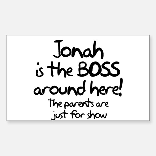 Jonah is the Boss Rectangle Decal