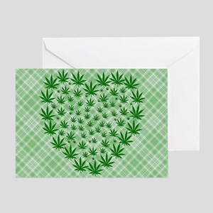 Marijuana Leaf Heart Greeting Card