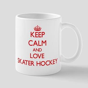 Keep calm and love Skater Hockey Mugs