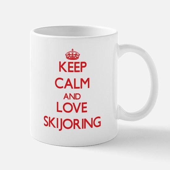 Keep calm and love Skijoring Mugs