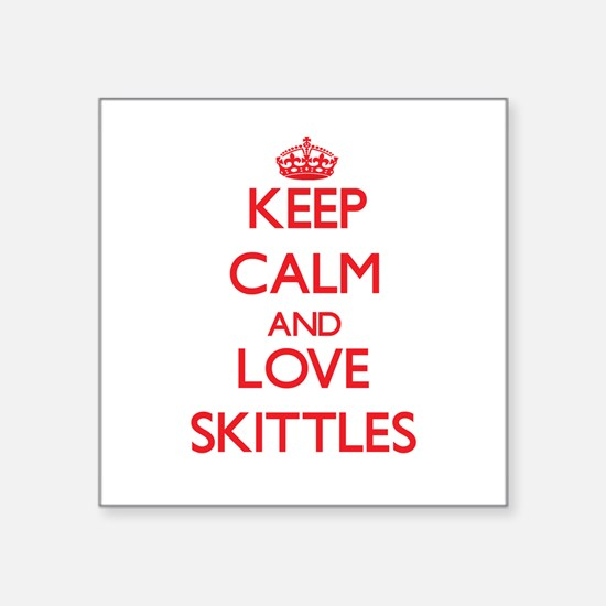 Keep calm and love Skittles Sticker