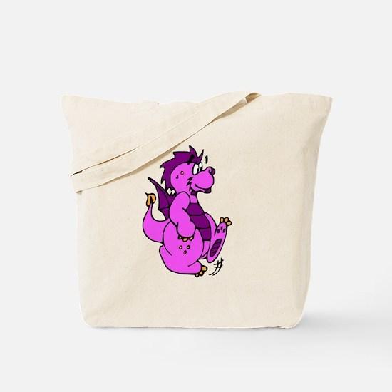 Pink Dragon Walking Tote Bag