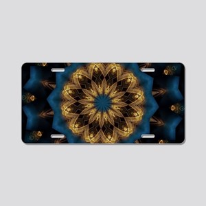 Blue Mandala Aluminum License Plate