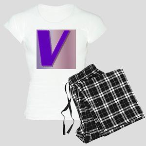 Purple V Monogram Women's Light Pajamas