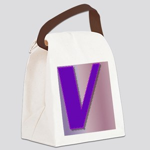 Purple V Monogram Canvas Lunch Bag