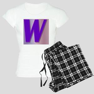 Purple W Monogram Women's Light Pajamas