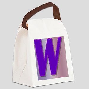 Purple W Monogram Canvas Lunch Bag