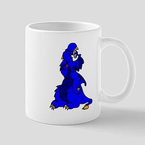Blue Exasperated Dragon Mugs