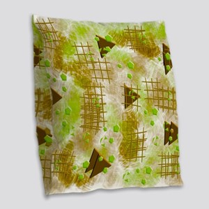 small particles green Burlap Throw Pillow