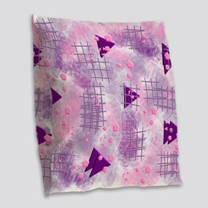 small particles,pink Burlap Throw Pillow