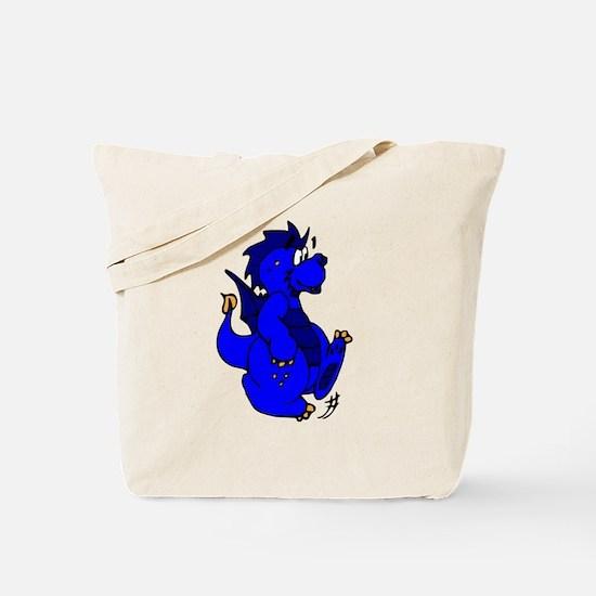 Blue Dragon Walking Tote Bag