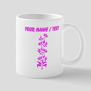 Custom Pink Floral Mugs