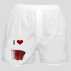 I Love Accordion Boxer Shorts