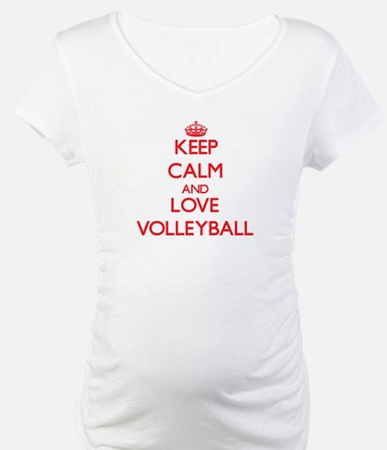 Keep calm and love Volleyball Shirt