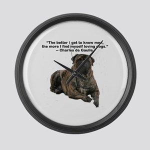 Bullmastiff Brindle-love dogs Large Wall Clock