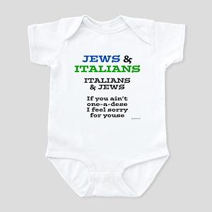 Jews and Italians Infant Bodysuit