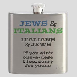 Jews and Italians Flask