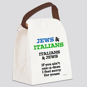 Jews and Italians Canvas Lunch Bag