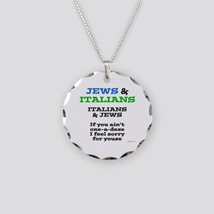 Jews and Italians Necklace Circle Charm