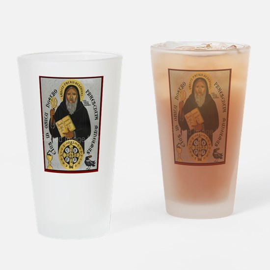 Saint Benedict Drinking Glass