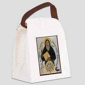 Saint Benedict Canvas Lunch Bag