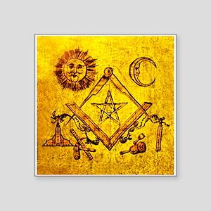 "Freemason Lampskin Square Sticker 3"" X 3"""