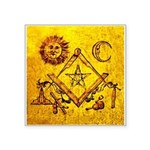 Freemason Lampskin Square Sticker 3
