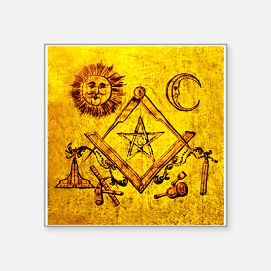 "Freemason Lampskin Square Sticker 3"" X 3"""