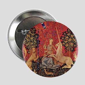 """Lady and Unicorn Sight 2.25"""" Button"""