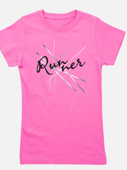 Abstract Runner Girl's Tee