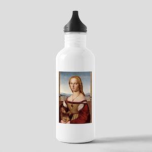 Girl and Unicorn Fo... Water Bottle