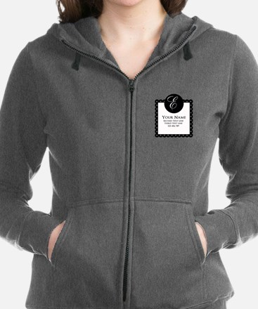 Personalized Texts Zip Hoodie