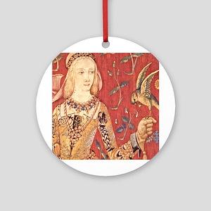 My Lady Hawk Ornament (Round)