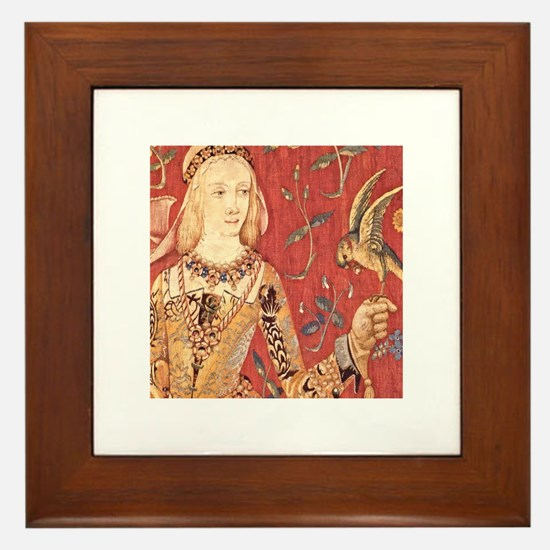 My Lady Hawk Framed Tile