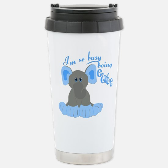 Busy Being Cute Stainless Steel Travel Mug